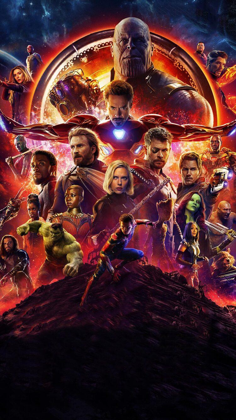 750x1334 Avengers Infinity War 2018 4k Poster Iphone 6 Iphone 6s