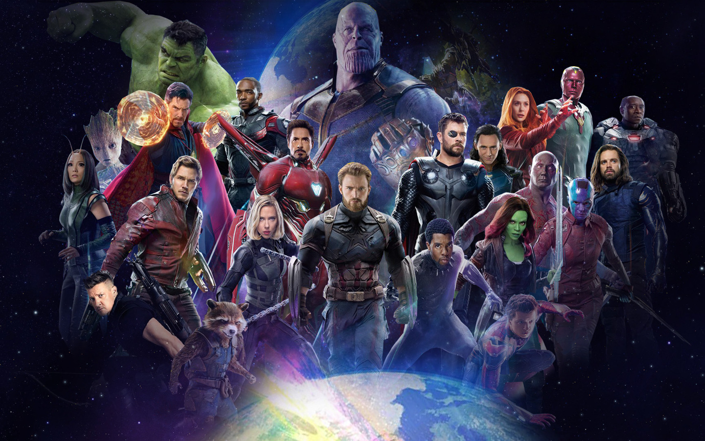 1440x900 Avengers Infinity War 2018 All Characters Poster ...