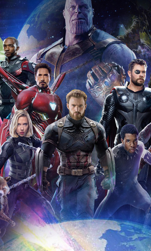 480x800 Avengers Infinity War 2018 All Characters Poster Galaxy Note