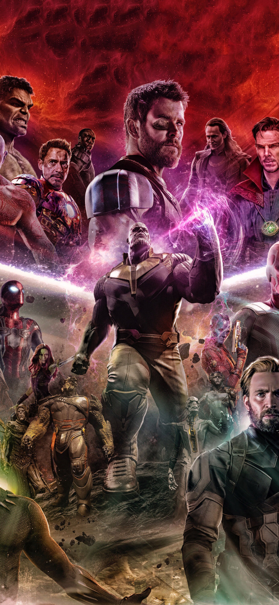 1125x2436 avengers infinity war 2018 artwork fan made - Avengers infinity war wallpaper iphone ...