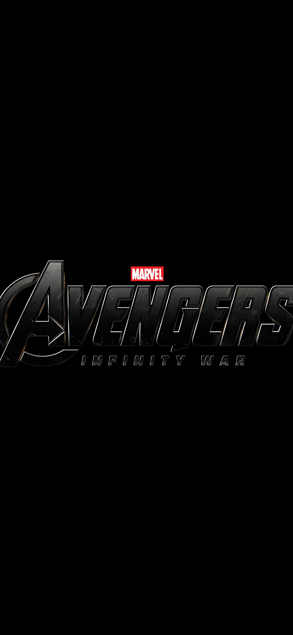 1125x2436 Avengers Infinity War 2018 Logo Iphone Xs Iphone