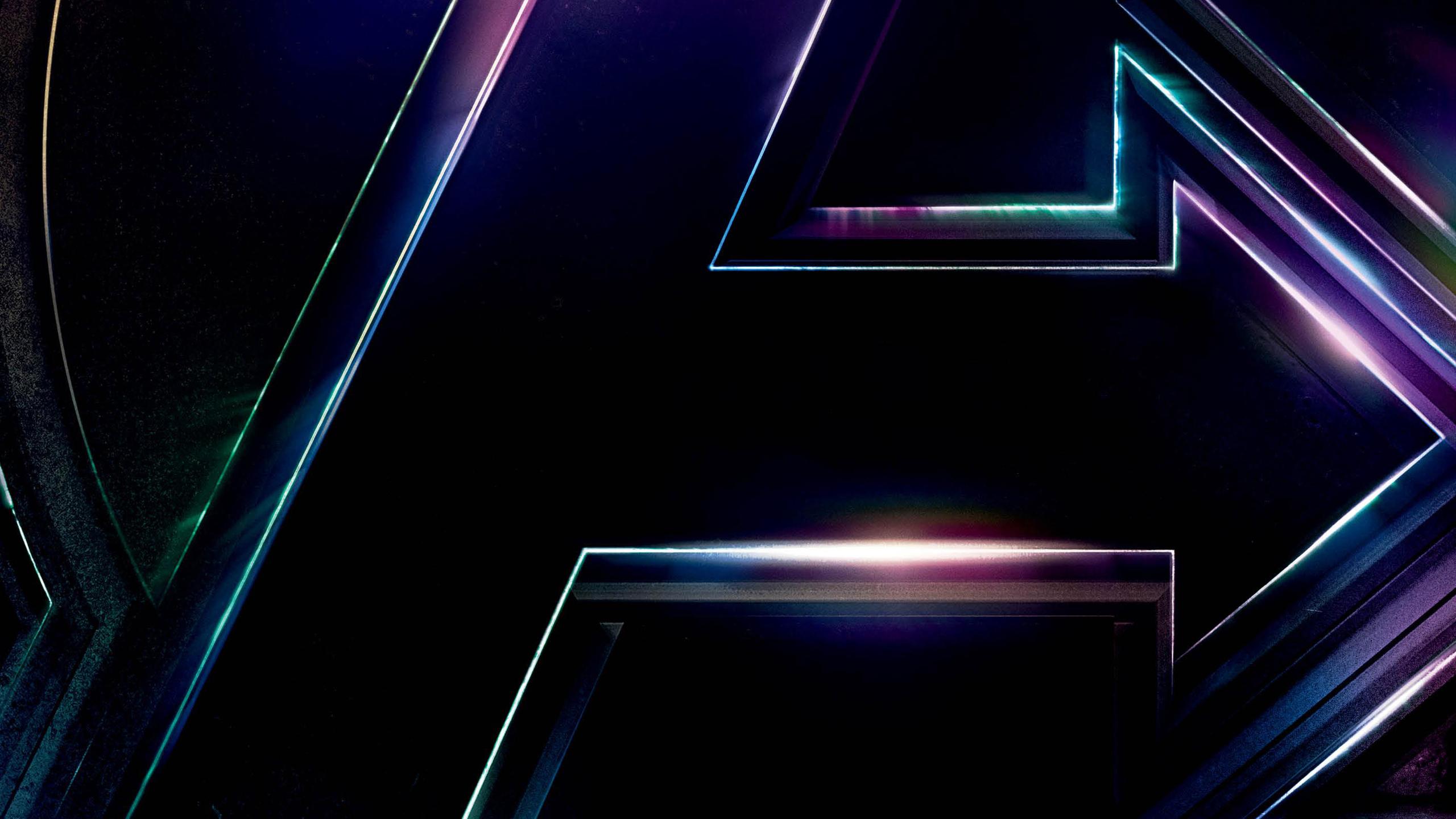 2560x1440 avengers infinity war 2018 logo poster 1440p - Avengers a logo 4k ...