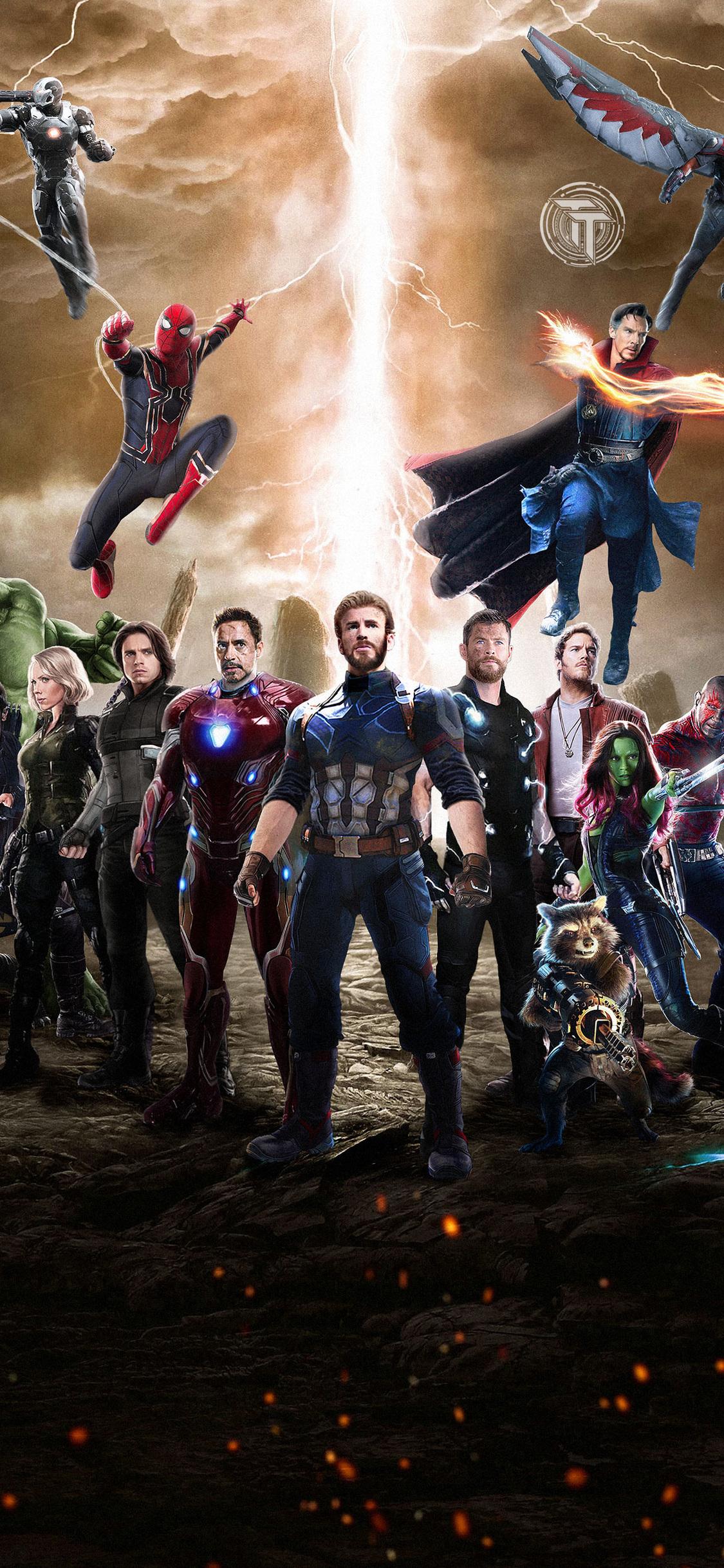 1125x2436 avengers infinity war 2018 movie fan art iphone - Avengers infinity war wallpaper iphone ...