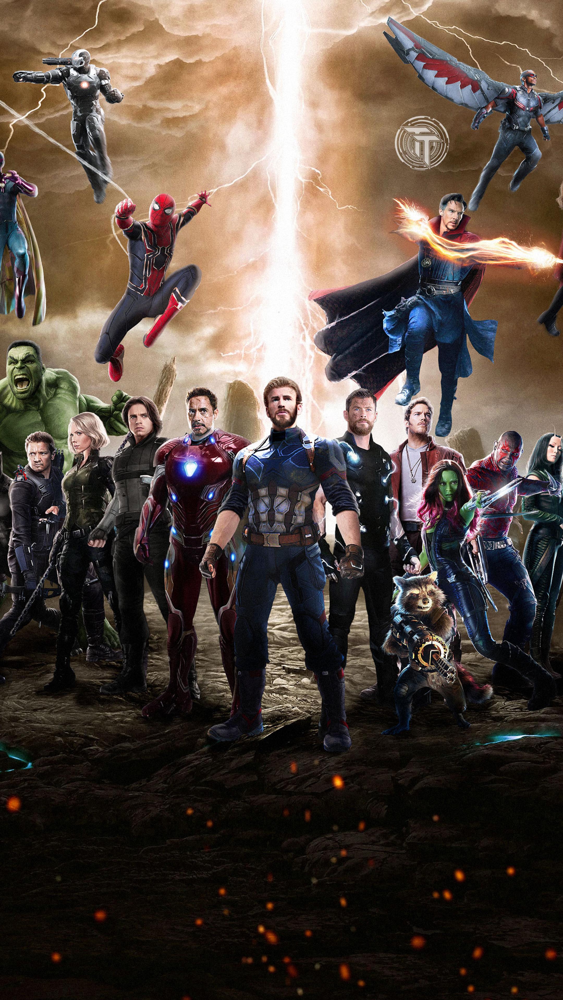 2160x3840 Avengers Infinity War 2018 Movie Fan Art Sony Xperia X Xz
