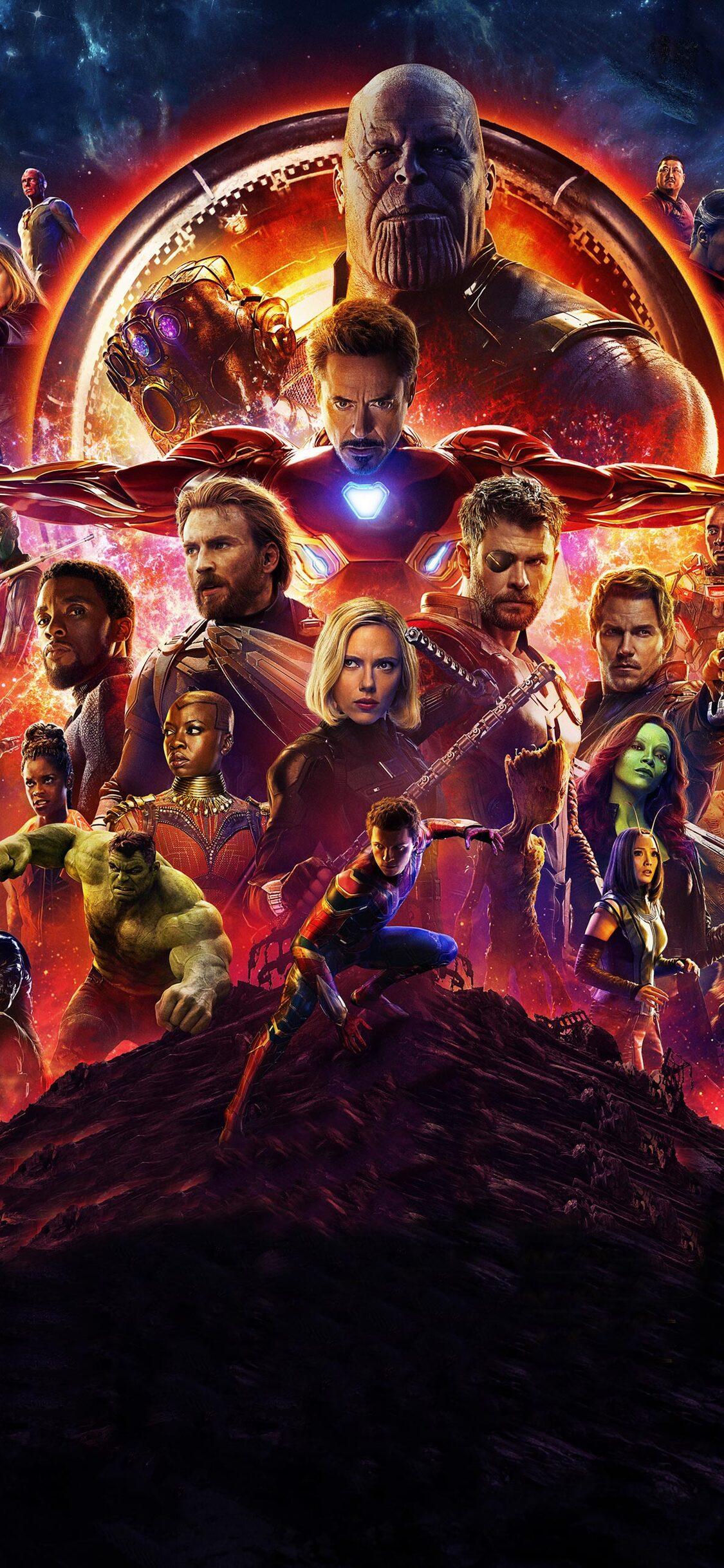 1125x2436 avengers infinity war 2018 poster 4k iphone xs - Avengers infinity war wallpaper iphone ...