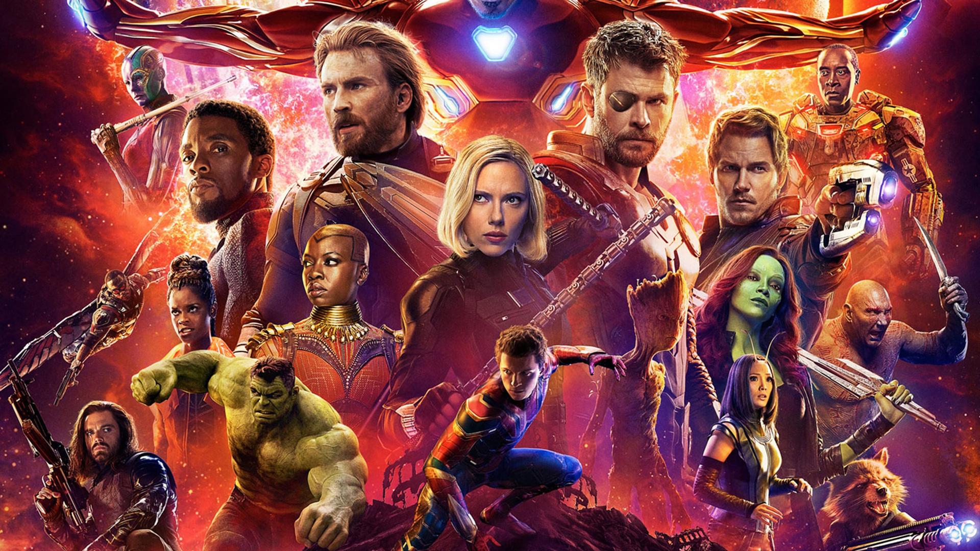 1920x1080 Avengers Infinity War 2018 Poster 4k Laptop Full Hd 1080p