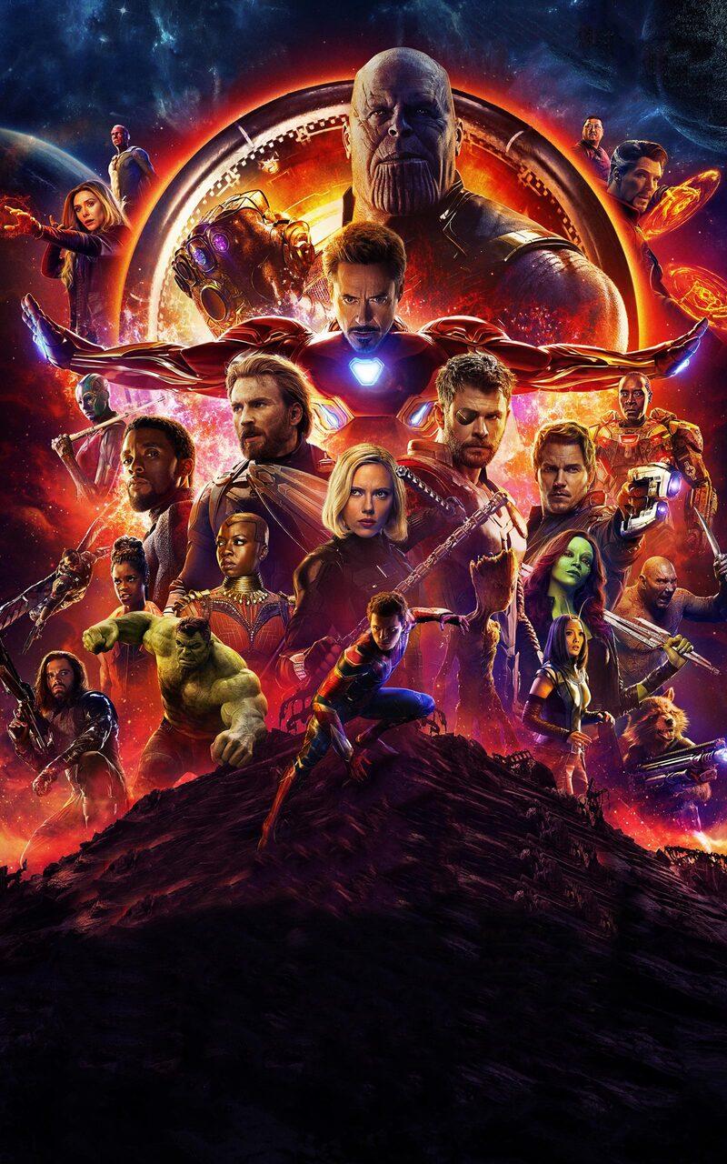 Avengers Infinity War 2018 Poster 4k Rq