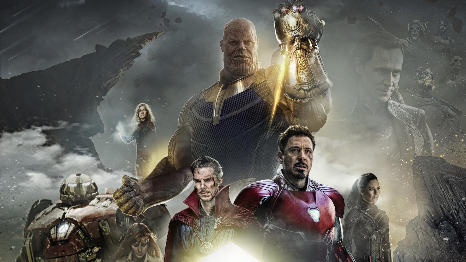 Wallpaper Thanos Avengers Infinity War Artwork Hd: 1920x1080 Avengers Infinity War 2018 Poster Fan Made