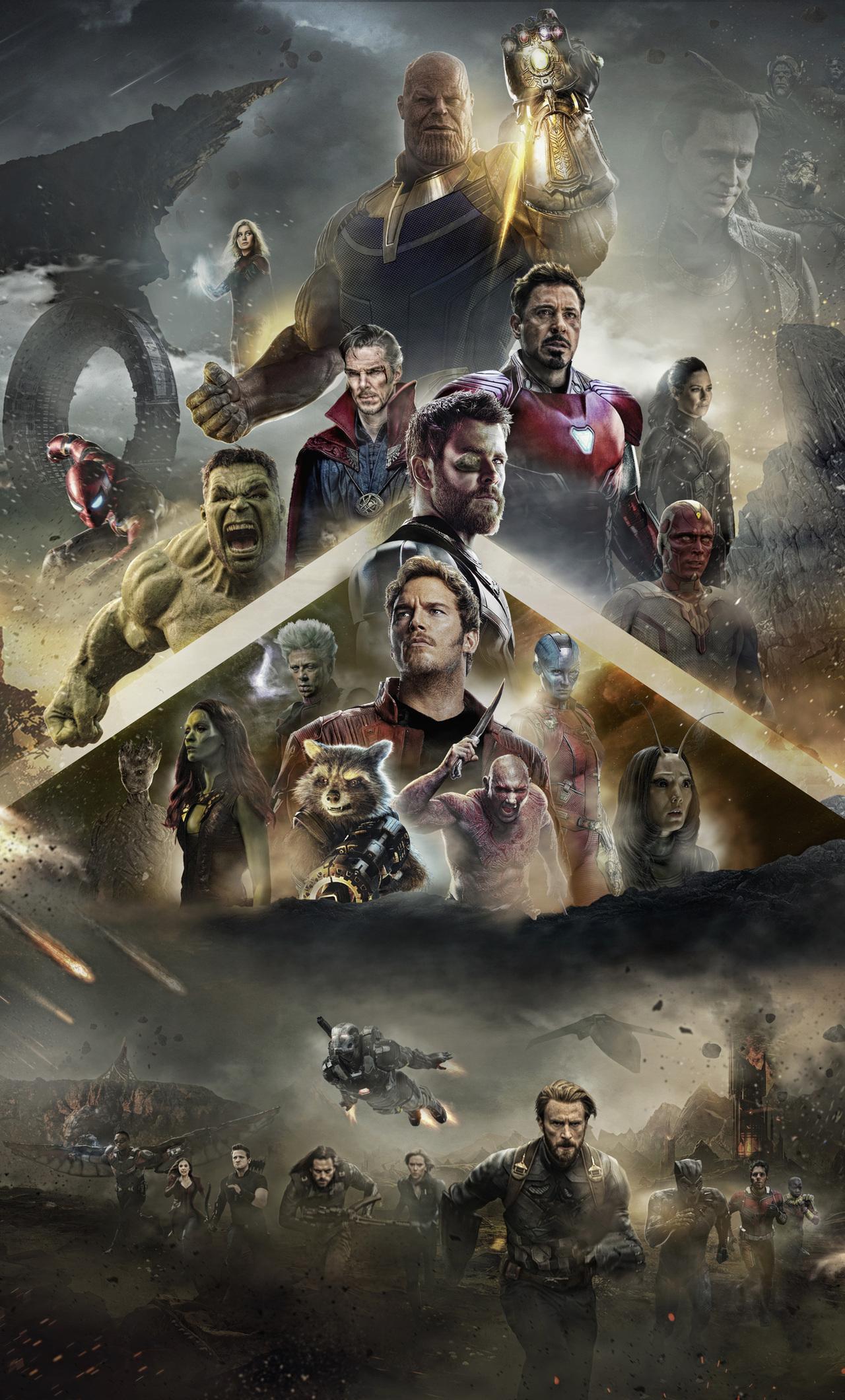 1280x2120 Avengers Infinity War 2018 Poster Iphone 6 Hd 4k