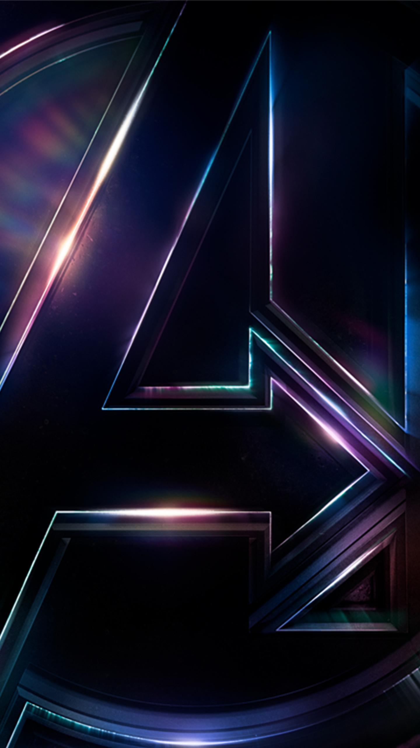 1440x2560 Avengers Infinity War 4k Logo Poster Samsung ...