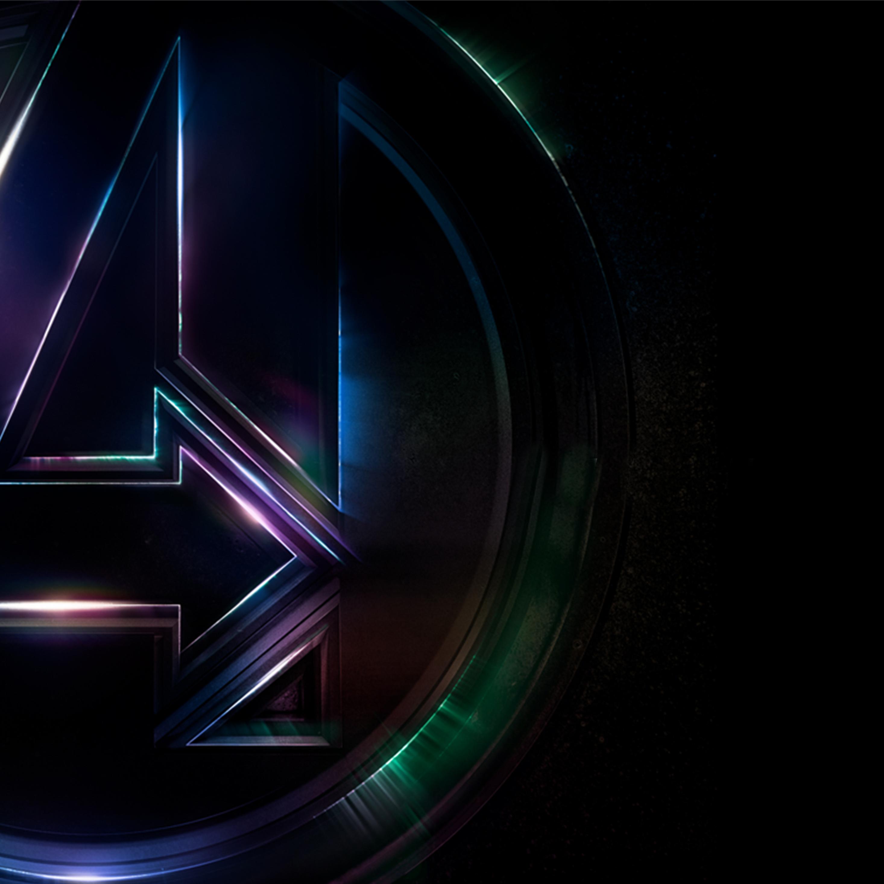 2932x2932 Avengers Infinity War 4k Logo Poster Ipad Pro ...