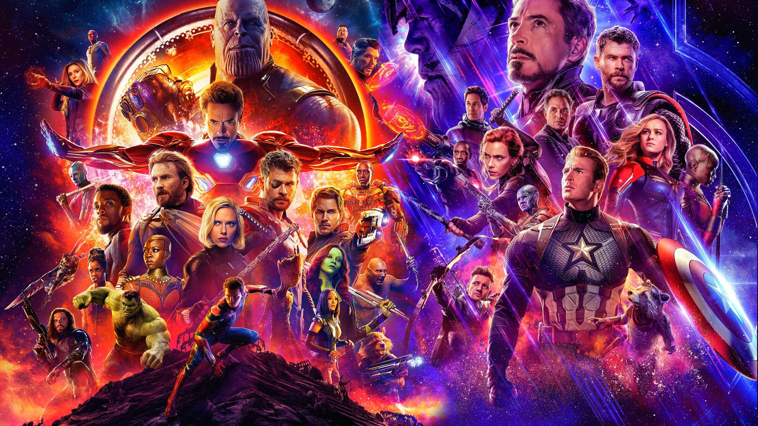 2560x1440 Avengers Infinity War And Endgame Poster 1440p Resolution