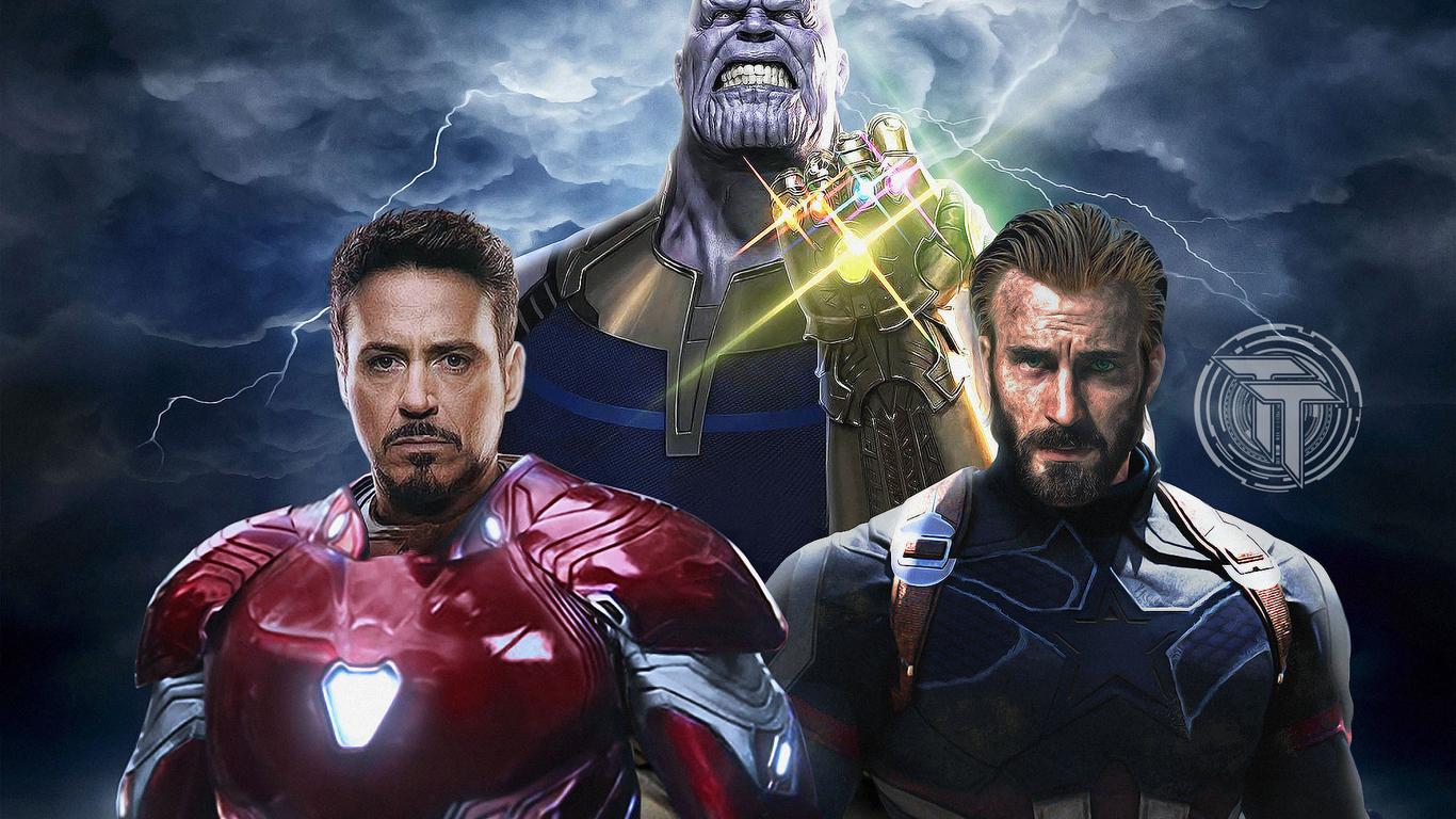 Wallpaper Thanos Avengers Infinity War Artwork Hd: 1366x768 Avengers Infinity War Captain America Iron Man