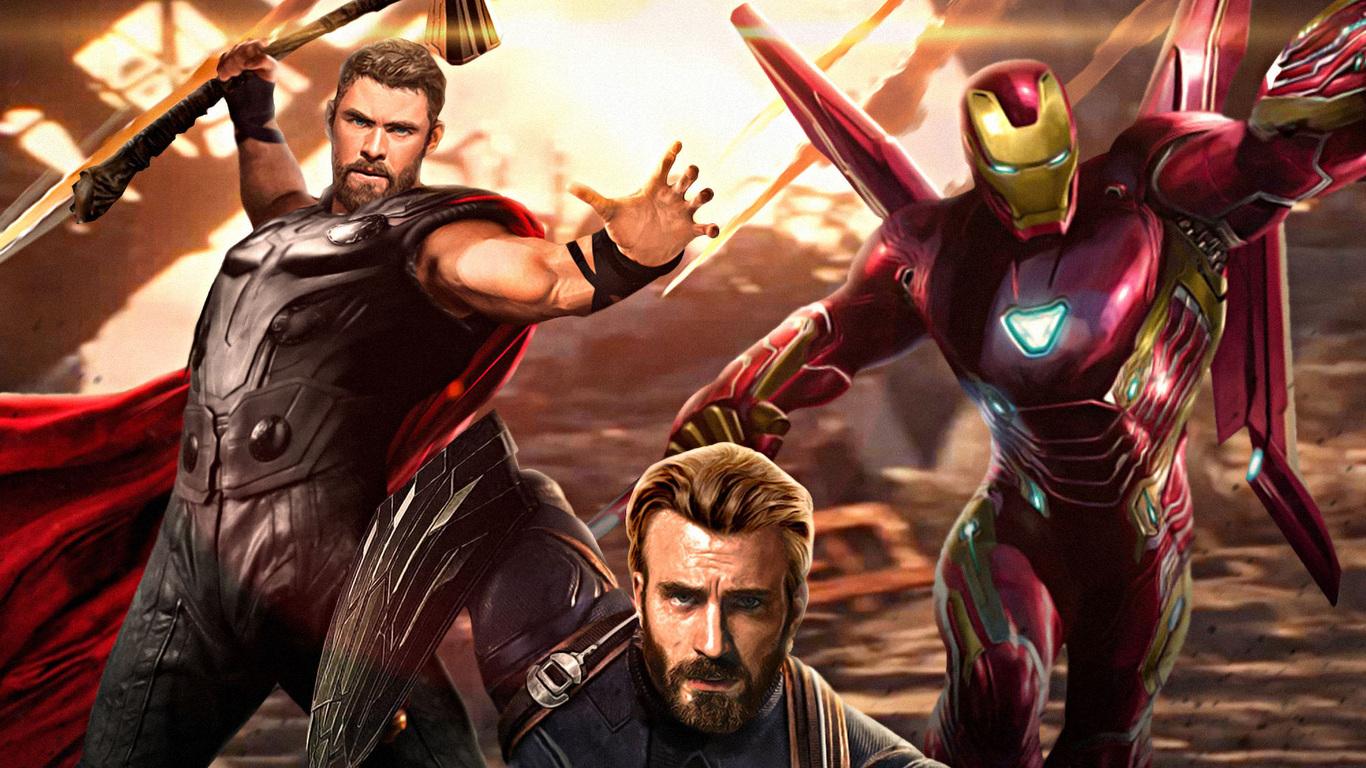 1366x768 Avengers Infinity War Captain America Ironman Thor 1366x768