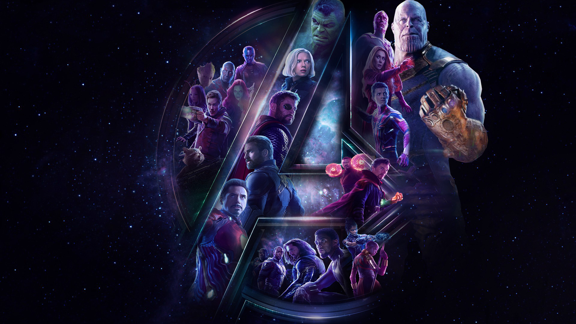 1920x1080 avengers infinity war characters poster laptop full hd