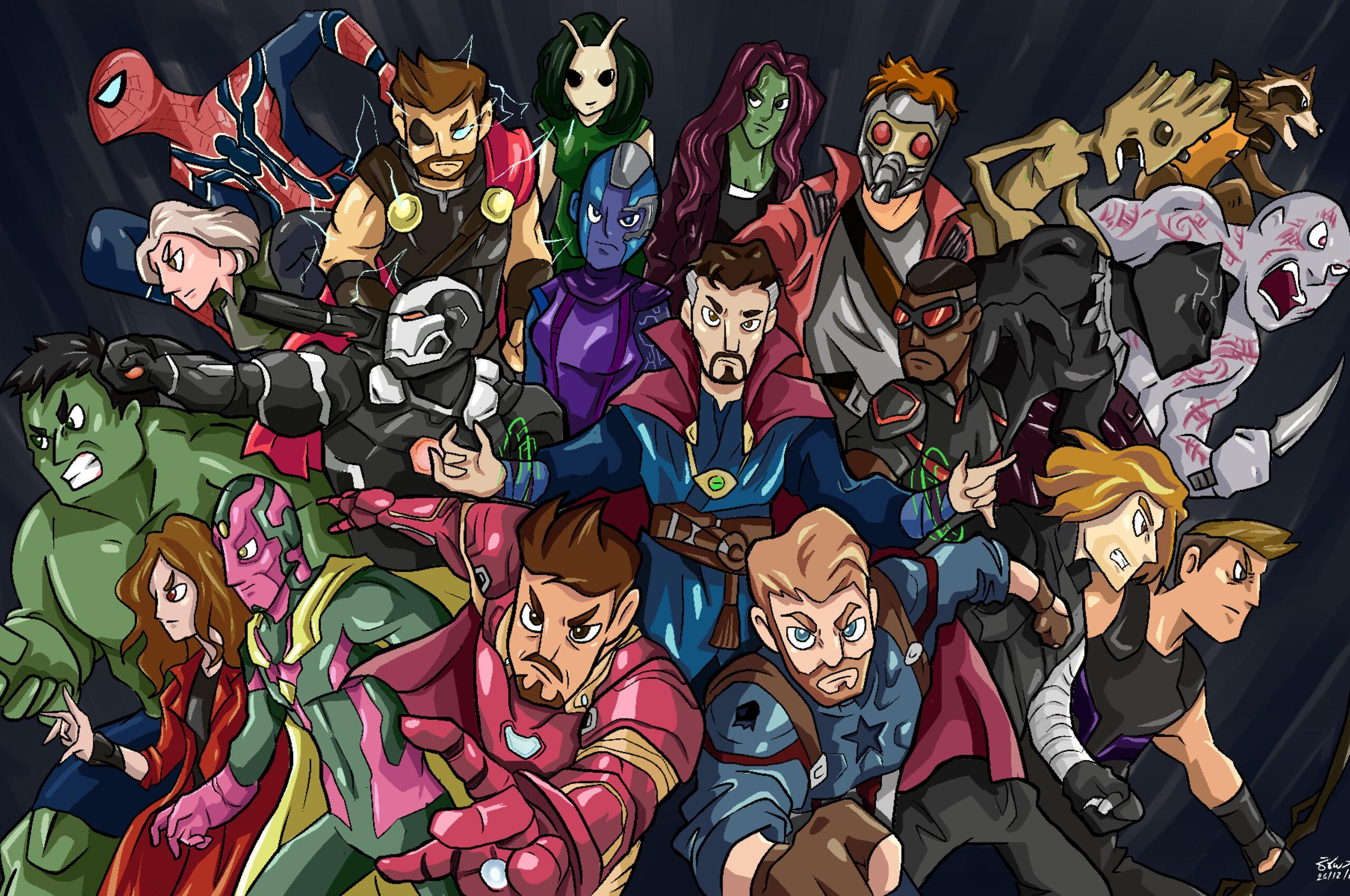 2560x1700 Avengers Infinity War Hero Side Fan Art Chromebook
