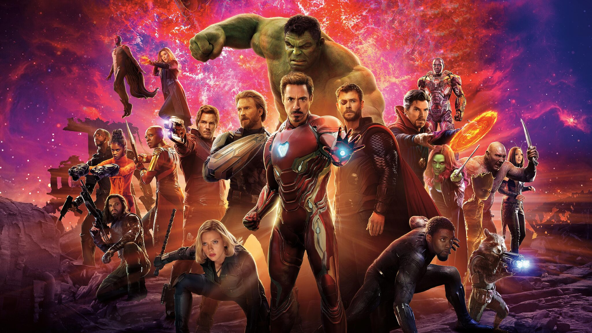 2048x1152 Avengers Infinity War International Poster 2048x1152