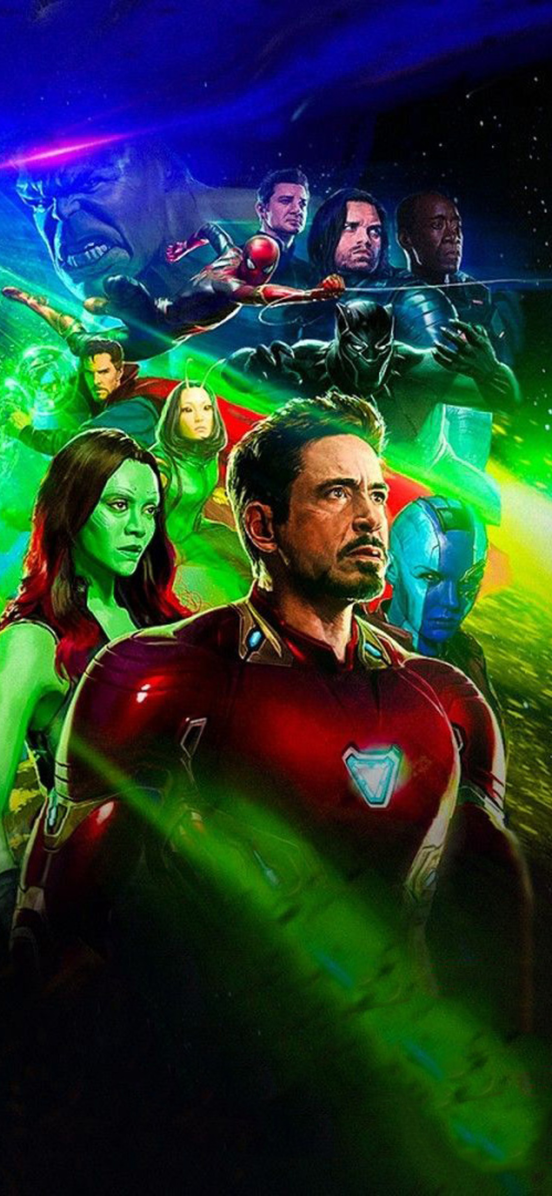 avengers infinity war poster iphone wallpapers xs