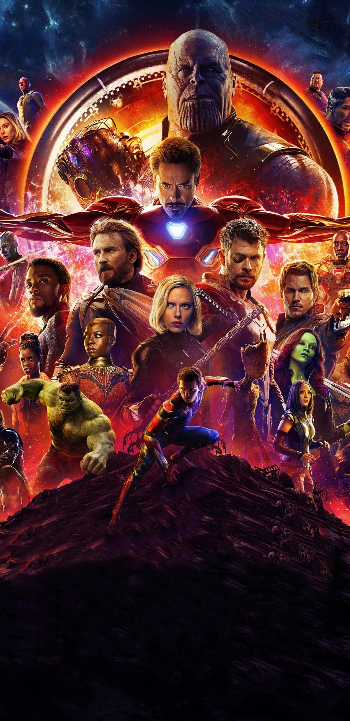 1440x2960 Avengers Infinity War Official Poster 2018 Samsung Galaxy