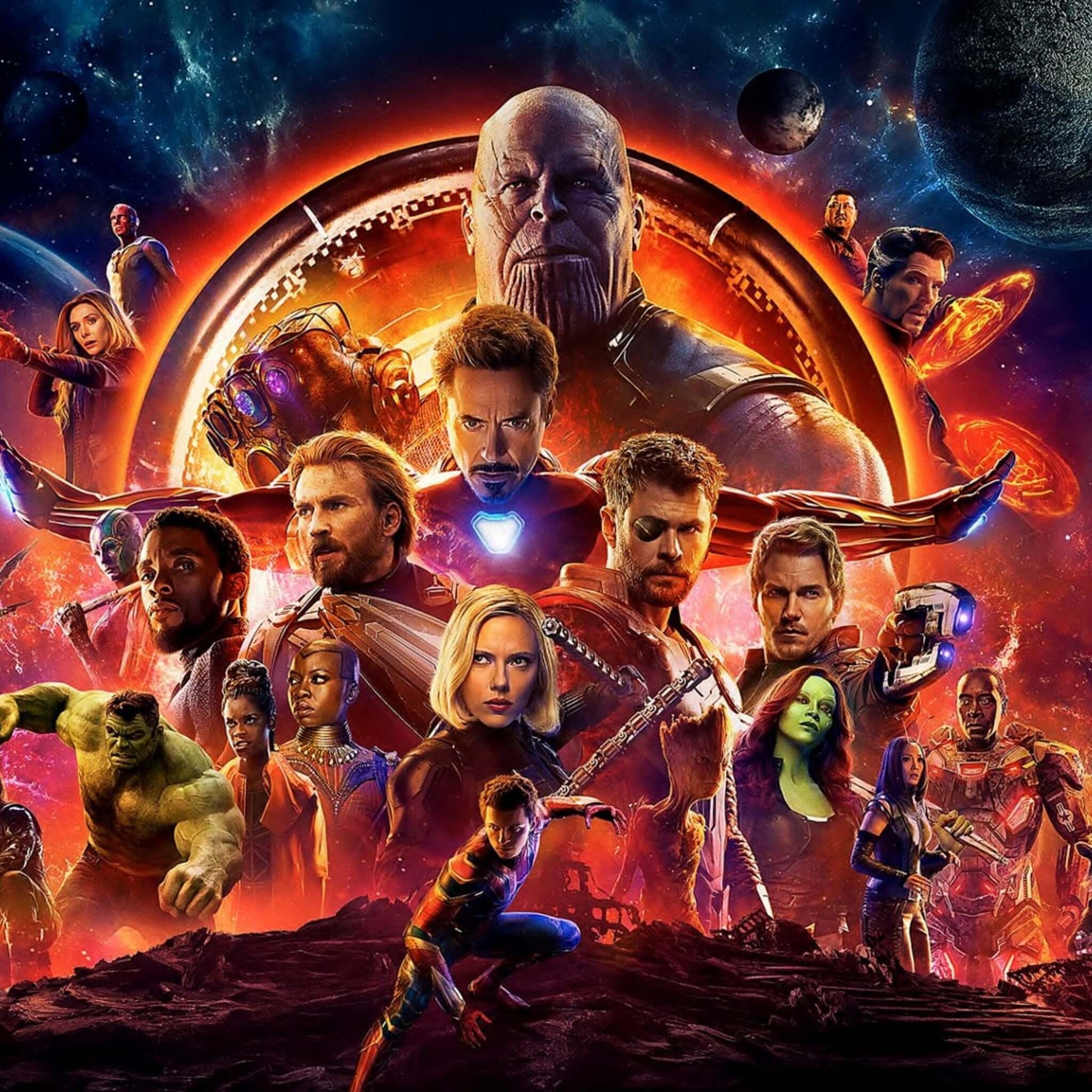 2048x2048 Avengers Infinity War Official Poster 2018 Ipad Air Hd 4k