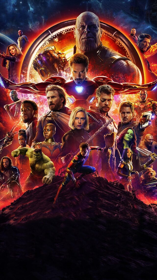640x1136 Avengers Infinity War Official Poster 2018 iPhone 5,5c,5S,SE ,Ipod Touch HD 4k