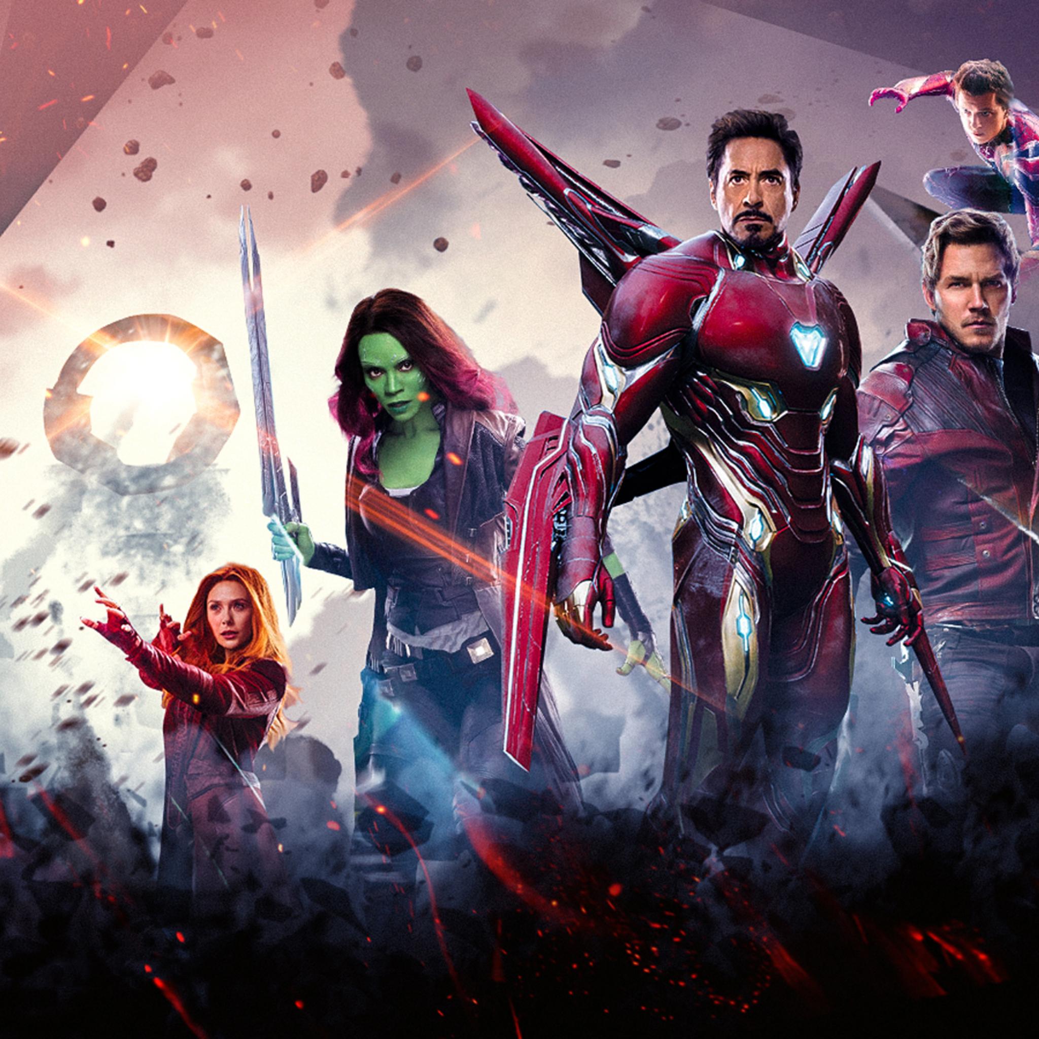 2048x2048 Avengers Infinity War Poster 2018 Ipad Air HD 4k