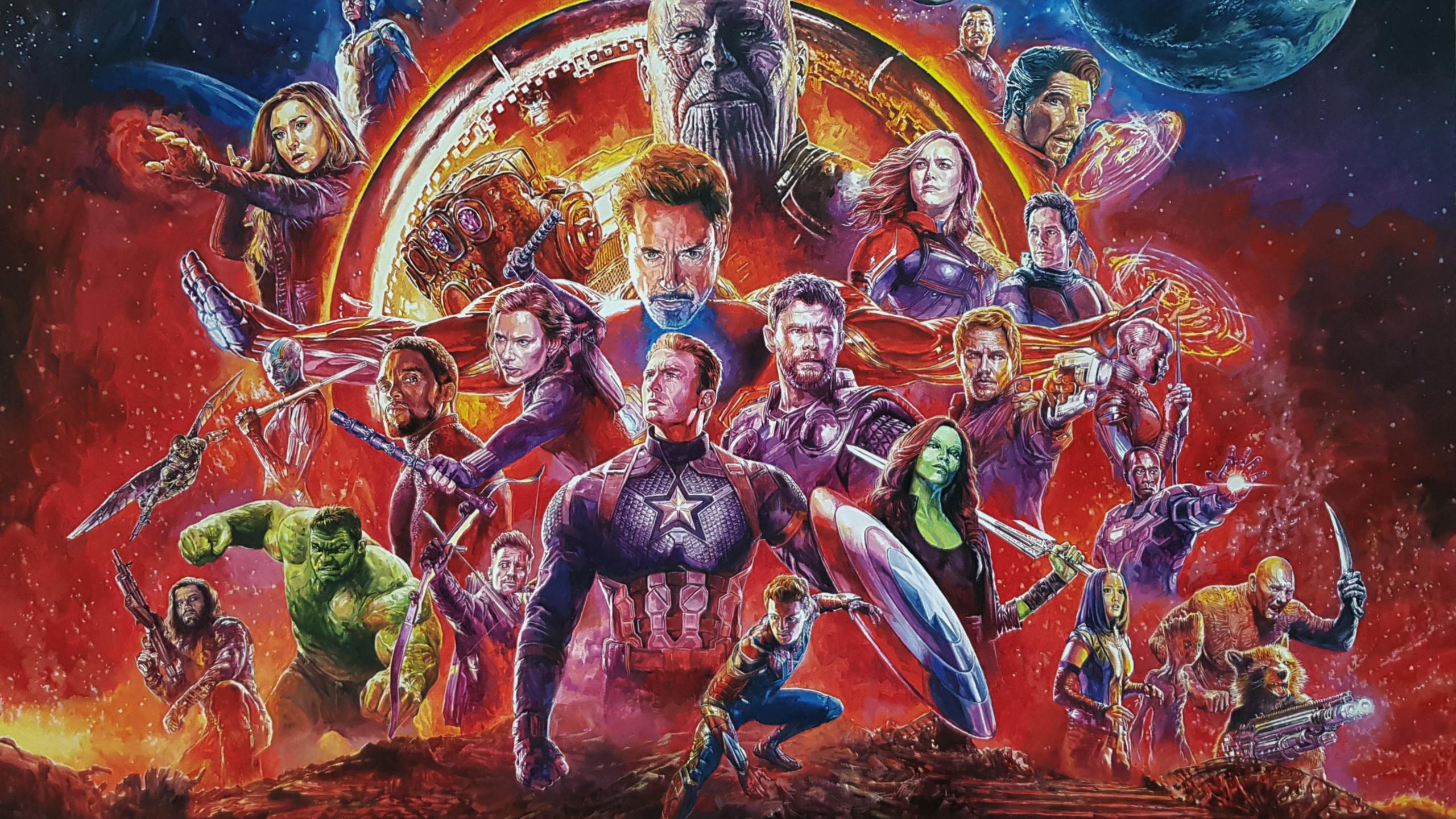 2560x1440 avengers infinity war sketch artwork 1440p