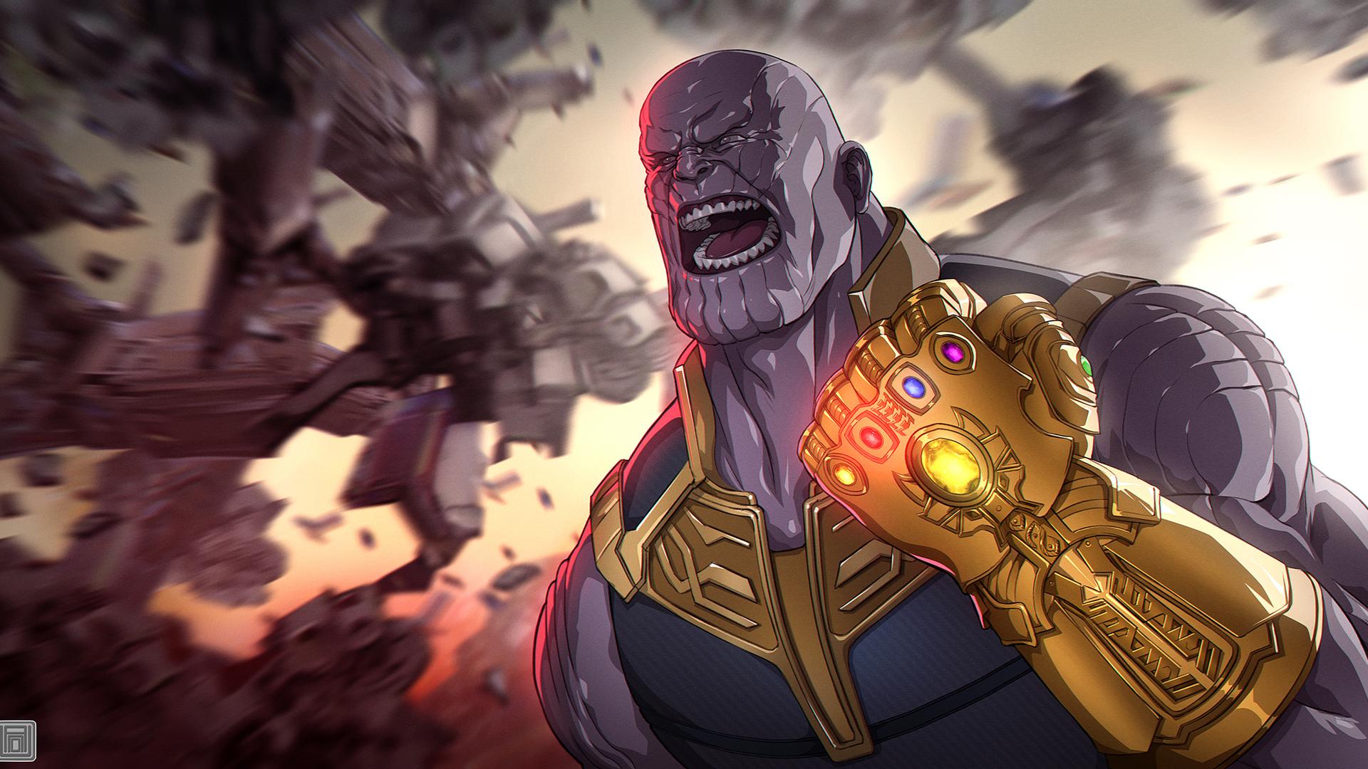 Wallpaper Thanos Avengers Infinity War Artwork Hd: 1920x1080 Avengers Infinity War Thanos Gauntlet Artwork