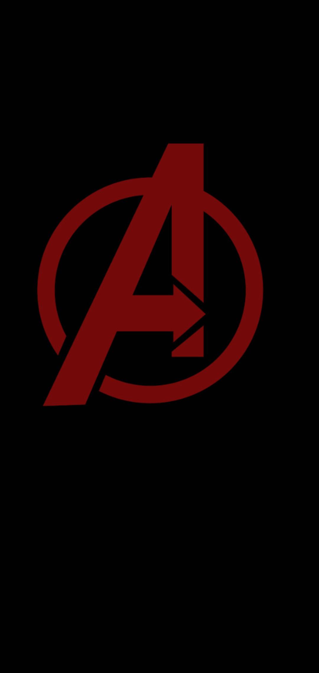 1080x2280 Avengers Minimal Logo One Plus 6huawei P20honor View 10
