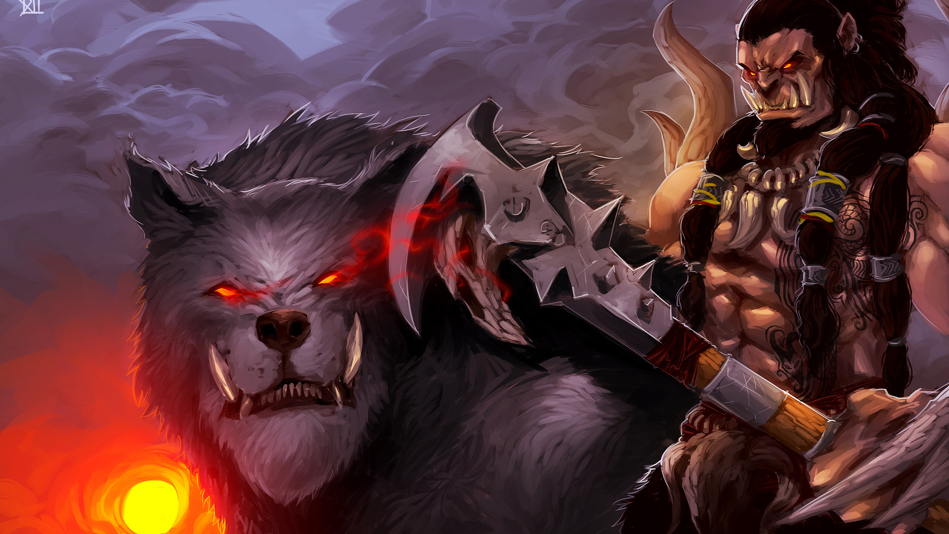 1920x1080 Axe Orc Warcraft Warrior Wolf Laptop Full Hd 1080p Hd 4k