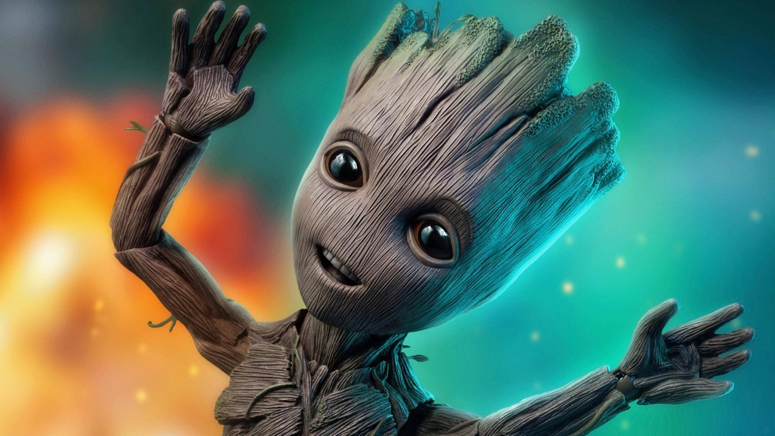 2560x1440 Baby Groot 4k 2018 1440P Resolution HD 4k ...
