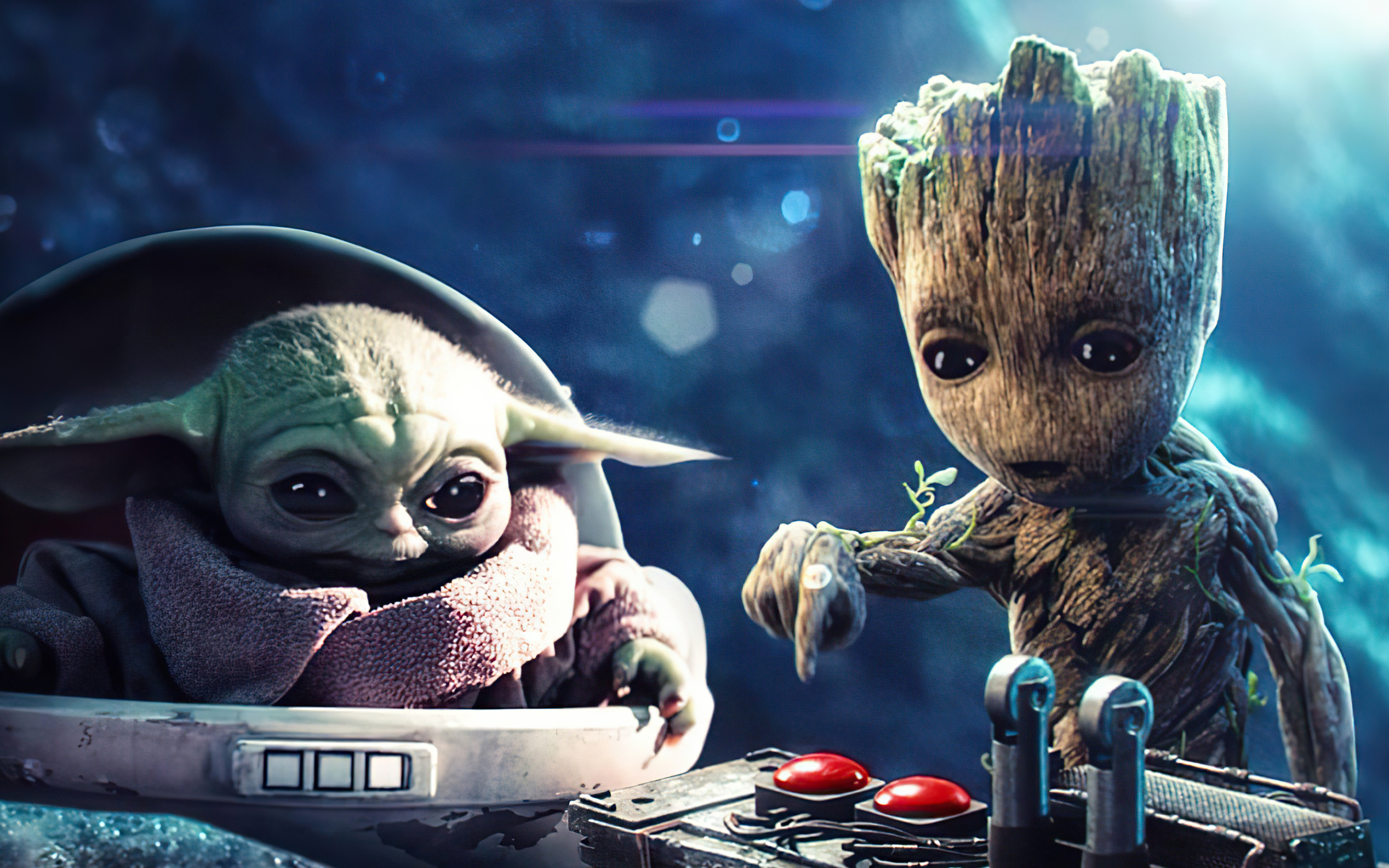 2880x1800 Baby Groot And Baby Yoda Macbook Pro Retina Hd 4k Wallpapers Images Backgrounds Photos And Pictures