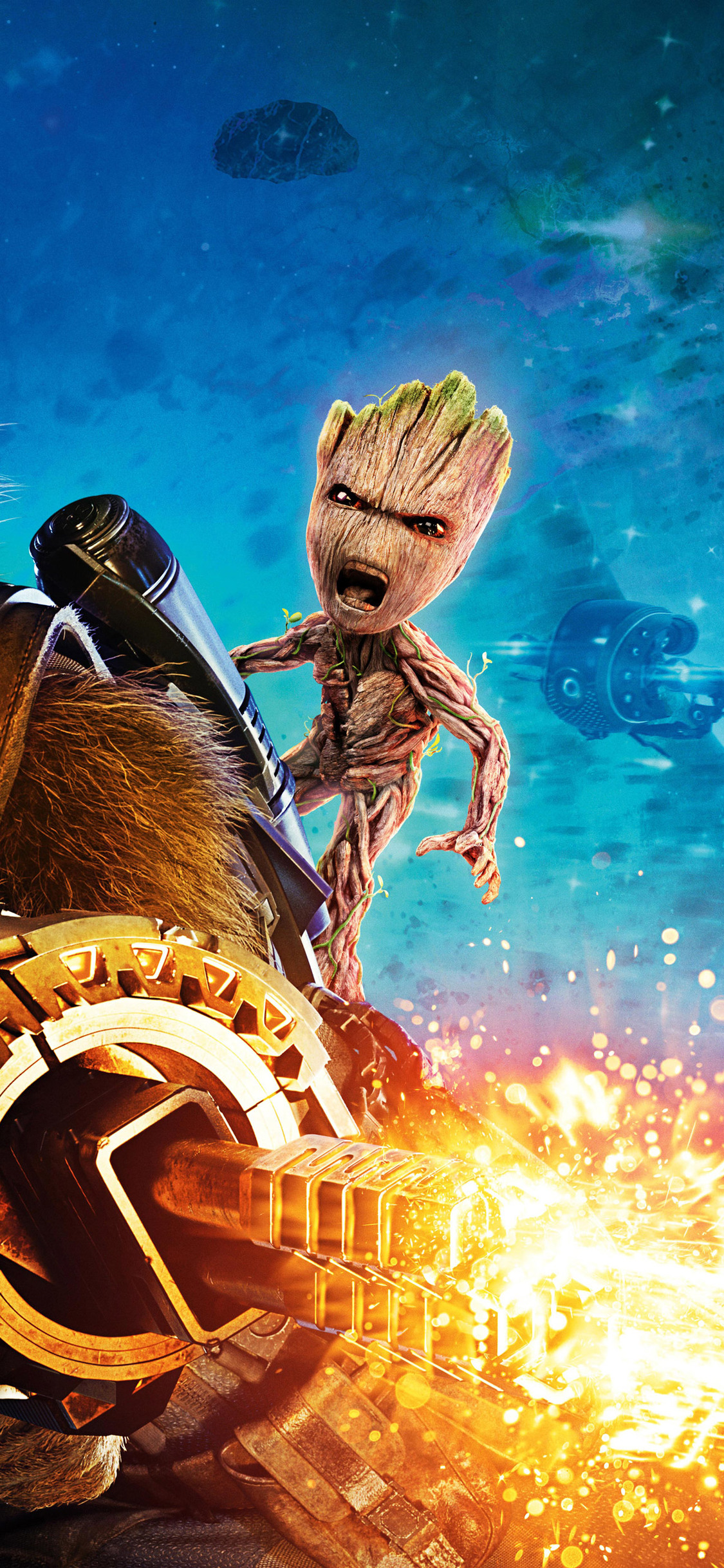 Baby Groot And Rocket Raccoon Guardians Of The