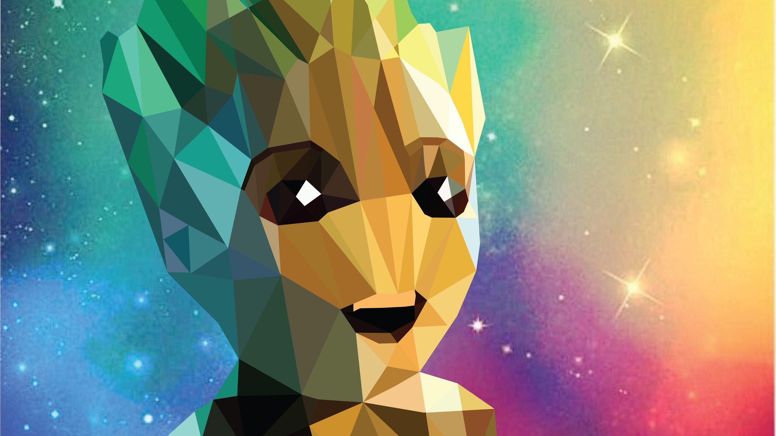 2560x1440 Baby Groot Low Poly Portrait 1440p Resolution Hd 4k Wallpapers Images Backgrounds Photos And Pictures