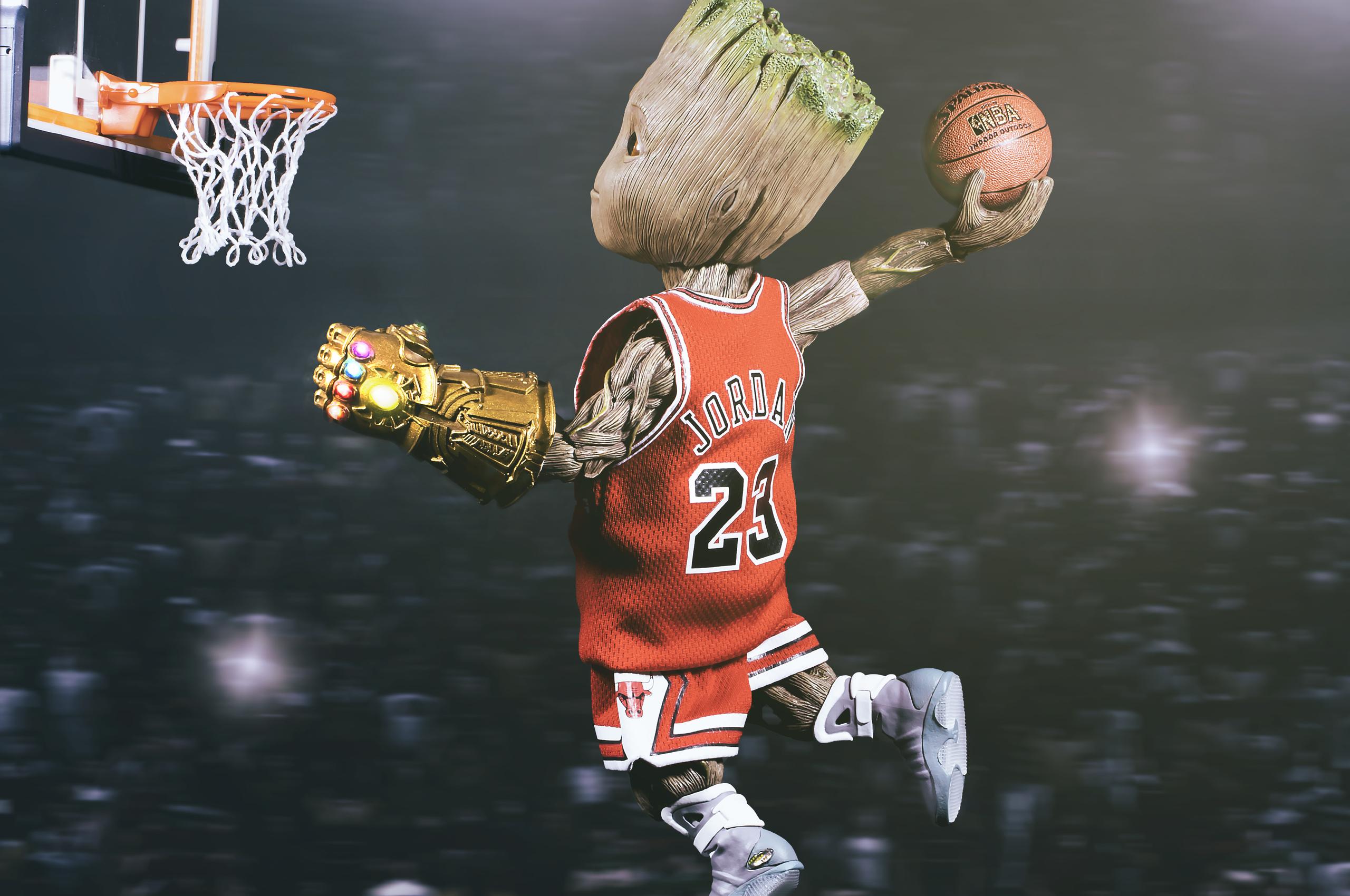 2560x1700 Baby Groot Playing Basketball Chromebook Pixel Hd 4k