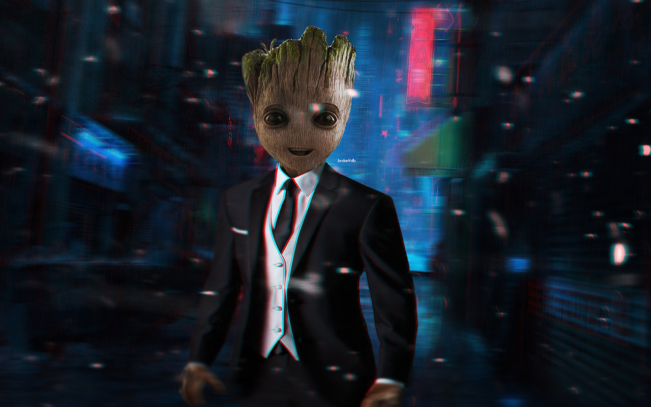 2560x1600 Baby Groot Up For Meeting 2560x1600 Resolution Hd