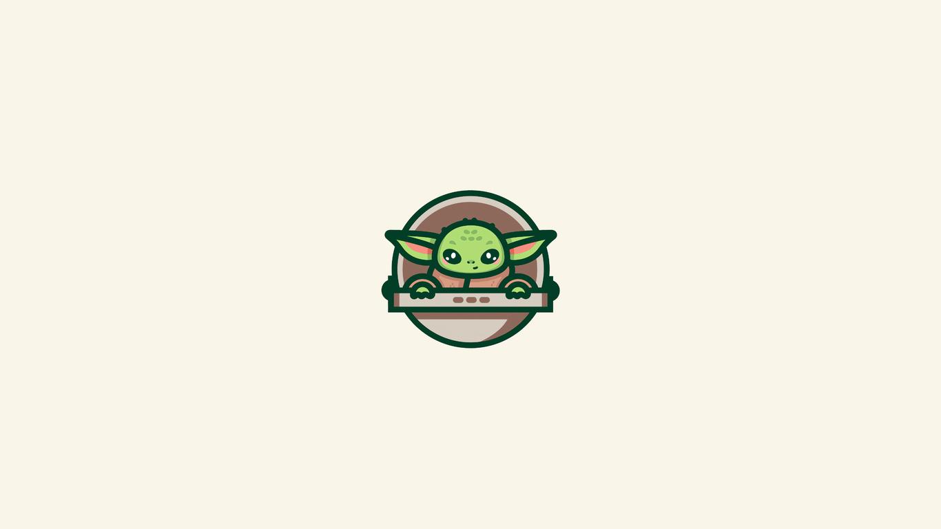 1366x768 Baby Yoda Minimal Art 4k 1366x768 Resolution HD ...