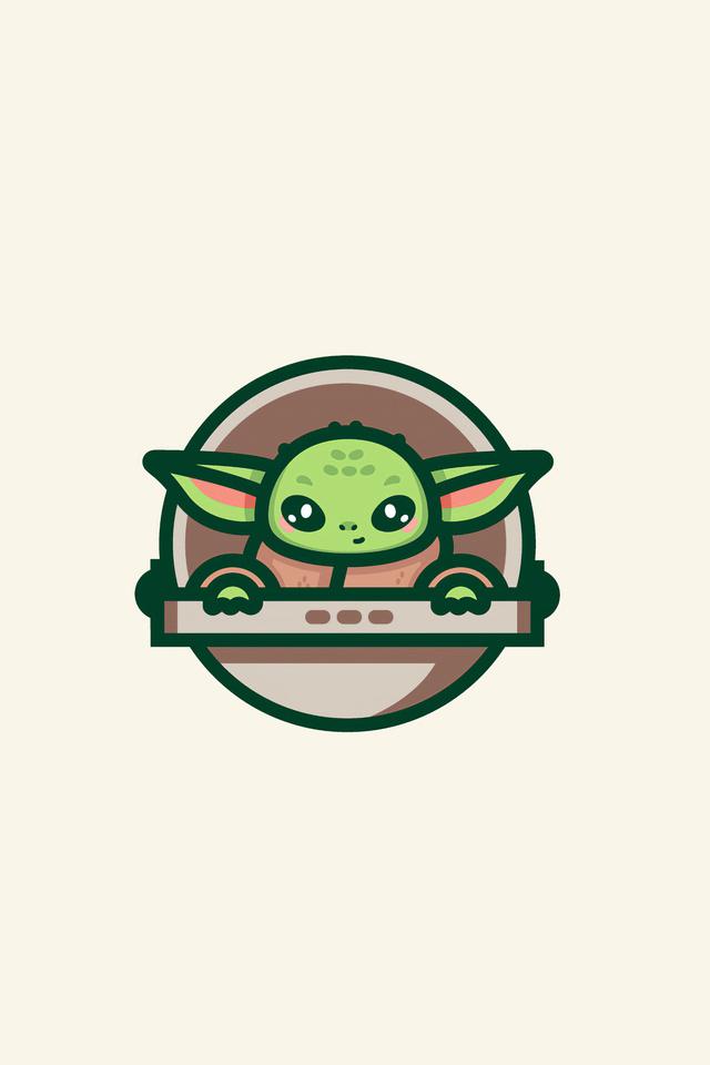 640x960 Baby Yoda Minimal Art 4k iPhone 4, iPhone 4S HD 4k ...