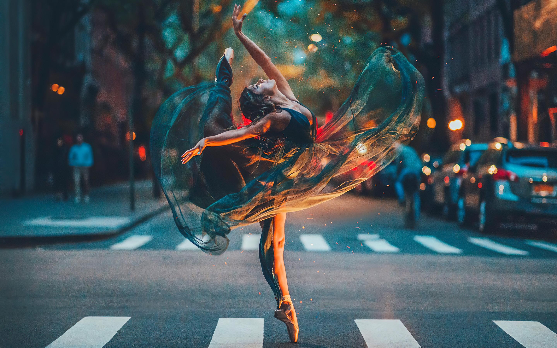 2880x1800 Ballet Dancer Girl Road 4k Macbook Pro Retina Hd 4k Wallpapers Images Backgrounds Photos And Pictures