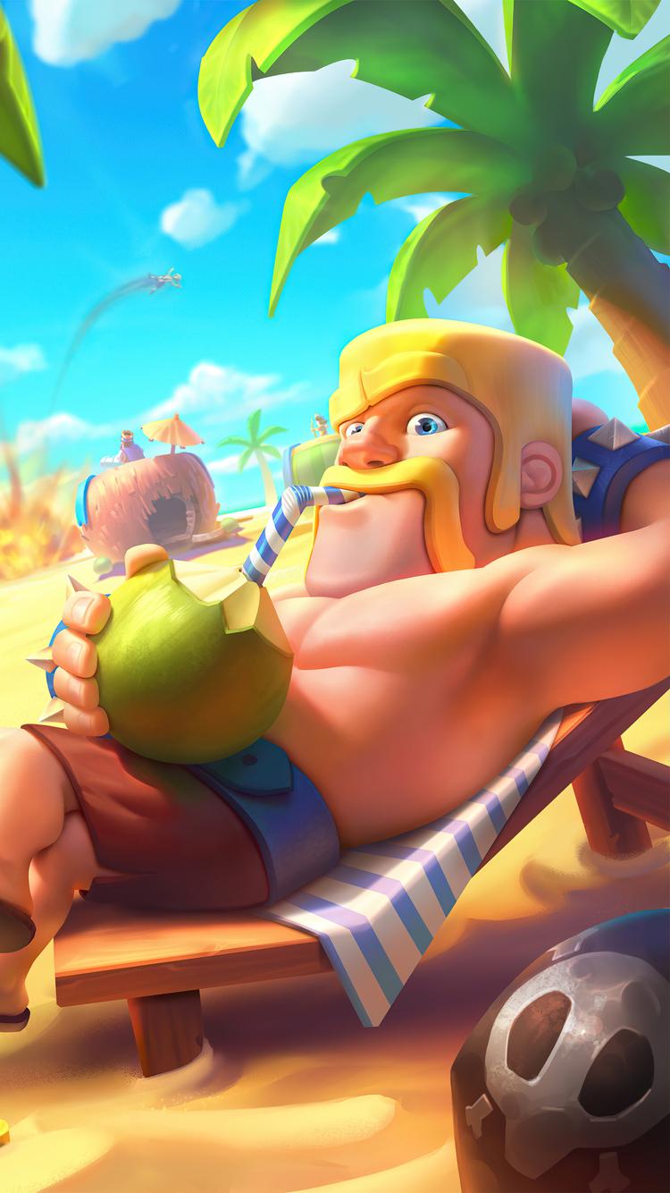 750x1334 Barbarian King Clash Royale 4k iPhone 6, iPhone ...