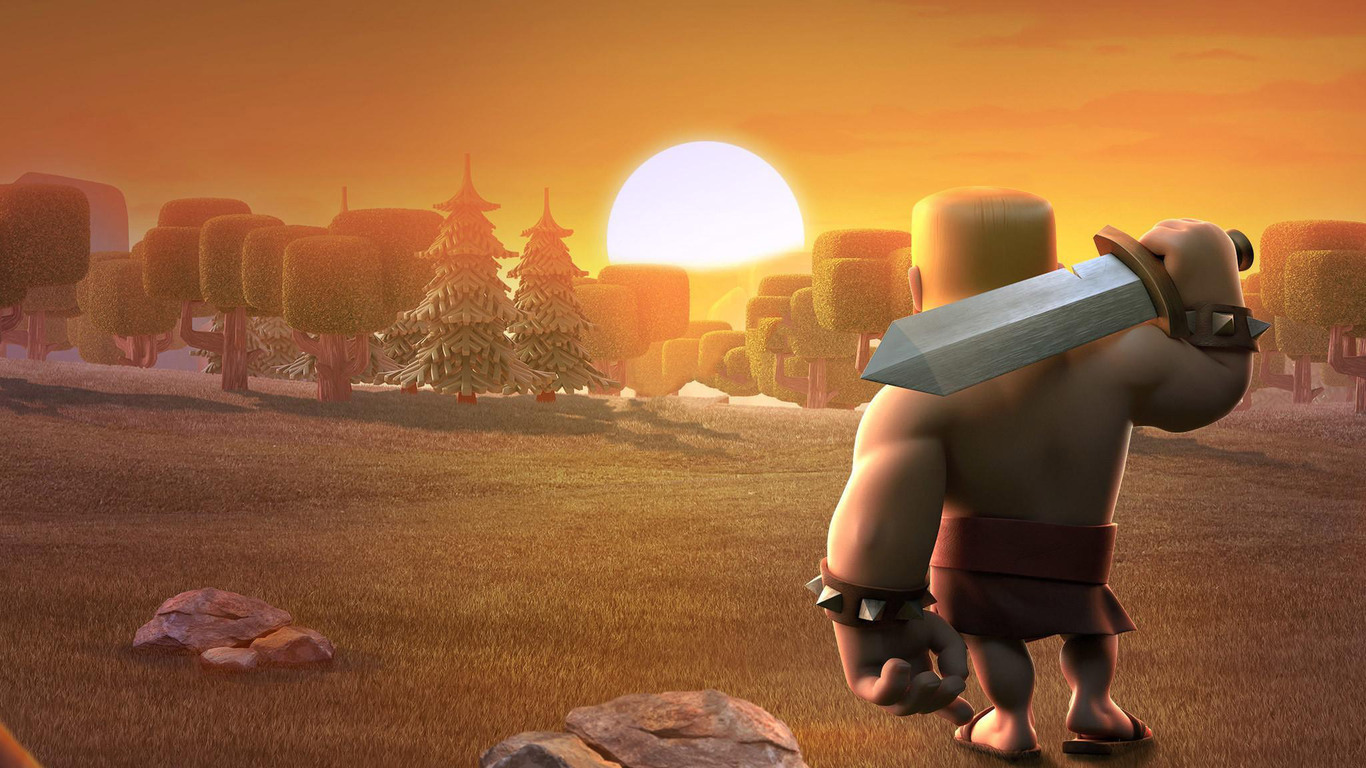 Barbarian Clash Of Clans Hd Hd Games 4k Wallpapers: 1366x768 Barbarians Clash Of Clans 1366x768 Resolution HD