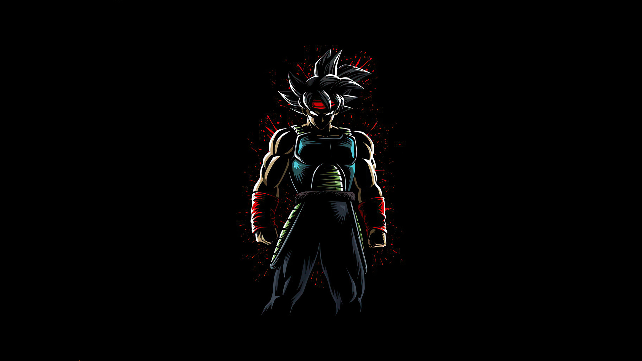 2048x1152 Bardock Paint Splatter Dragon Ball Z 2048x1152 Resolution Hd 4k Wallpapers Images Backgrounds Photos And Pictures