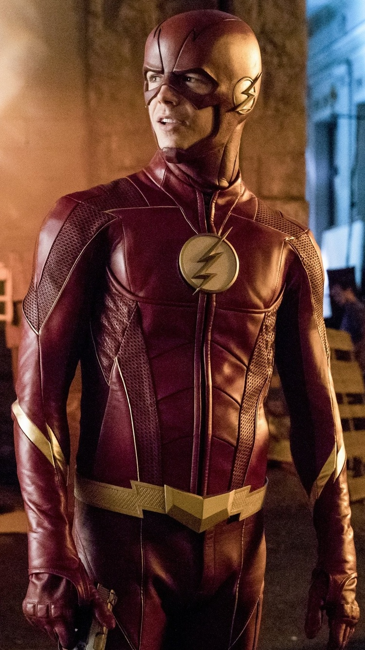 750x1334 Barry Allen As Flash In The Flash Season 4 2017