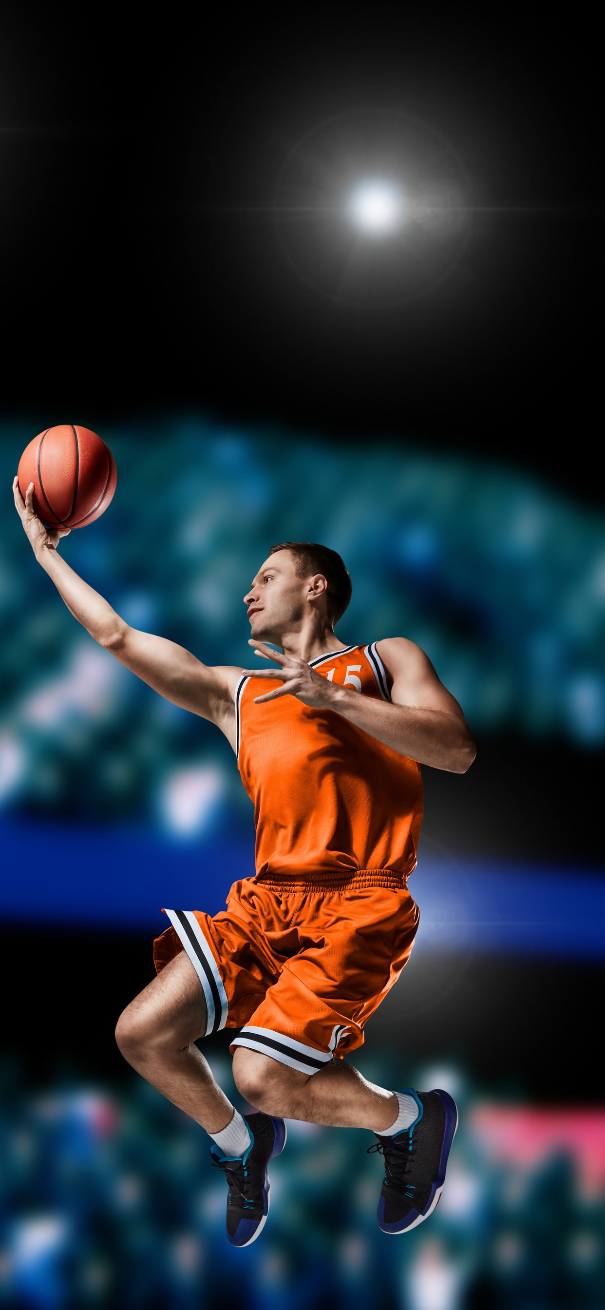 1242x2688 Basketball Player Shooting ...