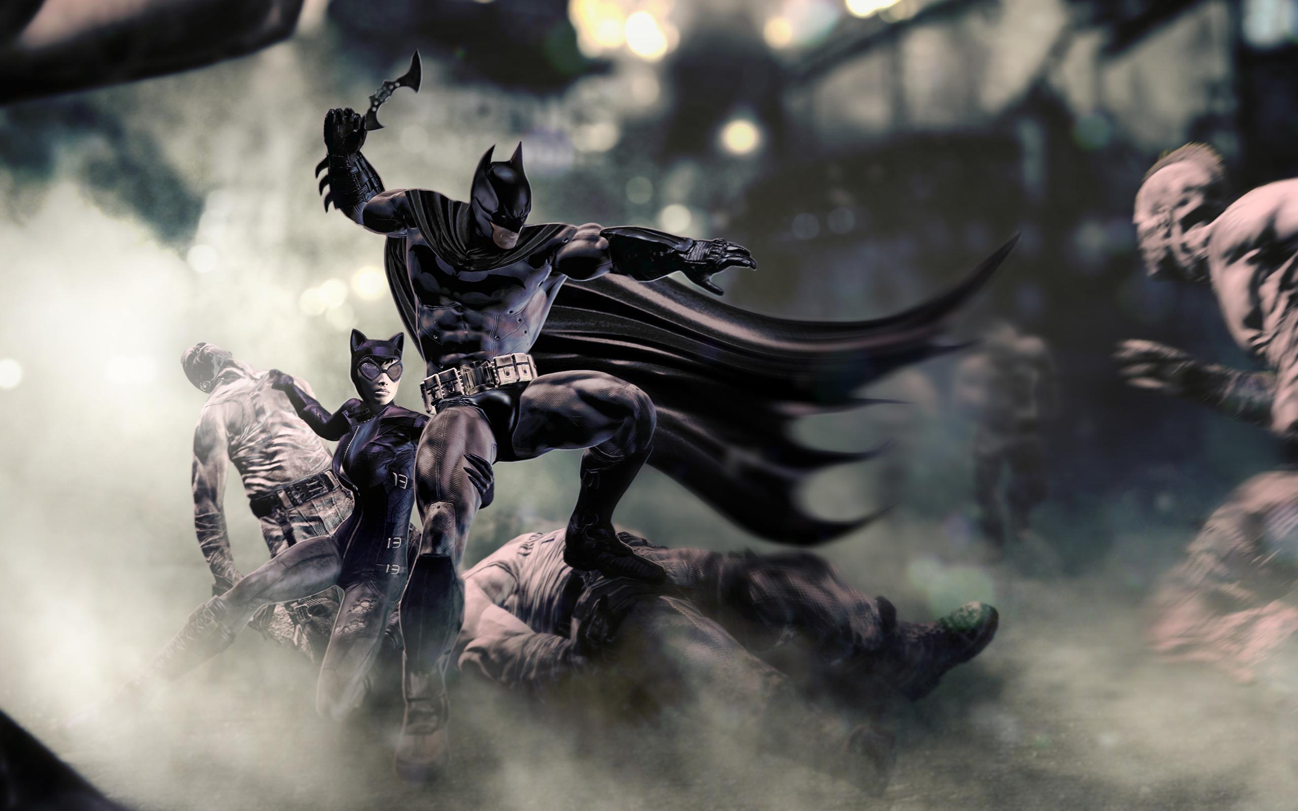 Batman Arkham City Catwoman Wide