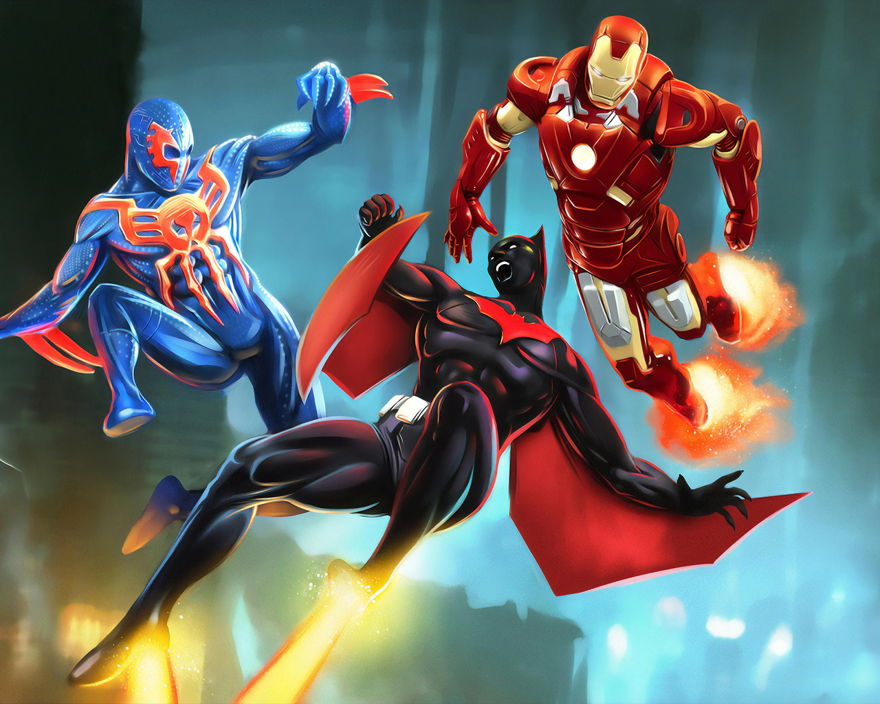 batman-beyond-spiderman-2099-ironman-3v.jpg