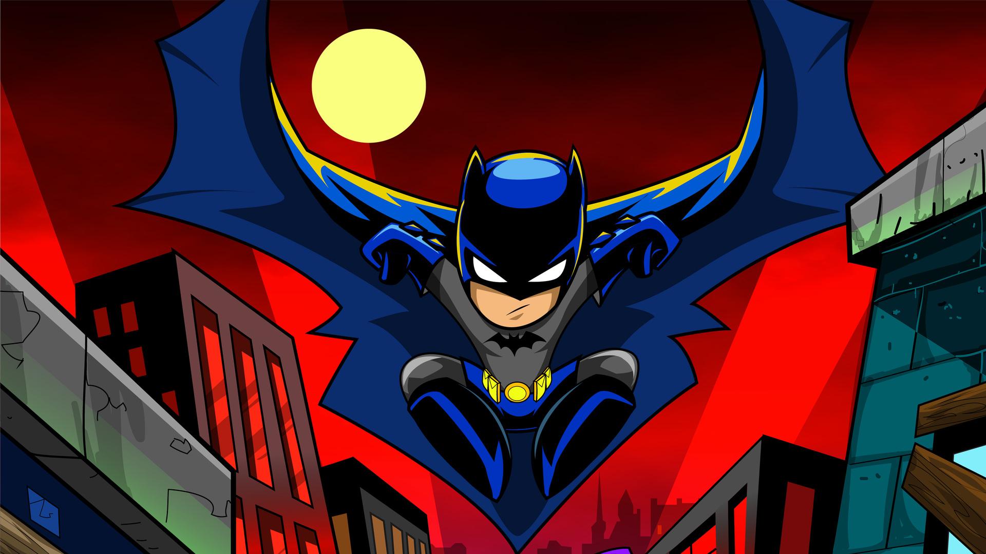 1920x1080 Batman Cartoon Art 4k Laptop Full HD 1080P HD 4k ...