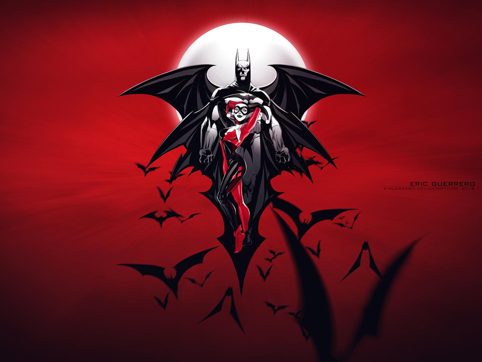 1600x1200 Batman Harley Quinn Art 1600x1200 Resolution Hd 4k