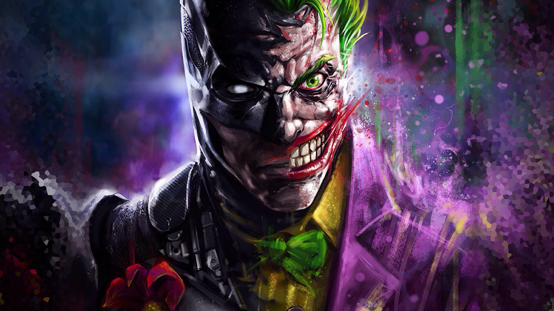 1920x1080 Batman Joker Art Laptop Full Hd 1080p Hd 4k Wallpapers