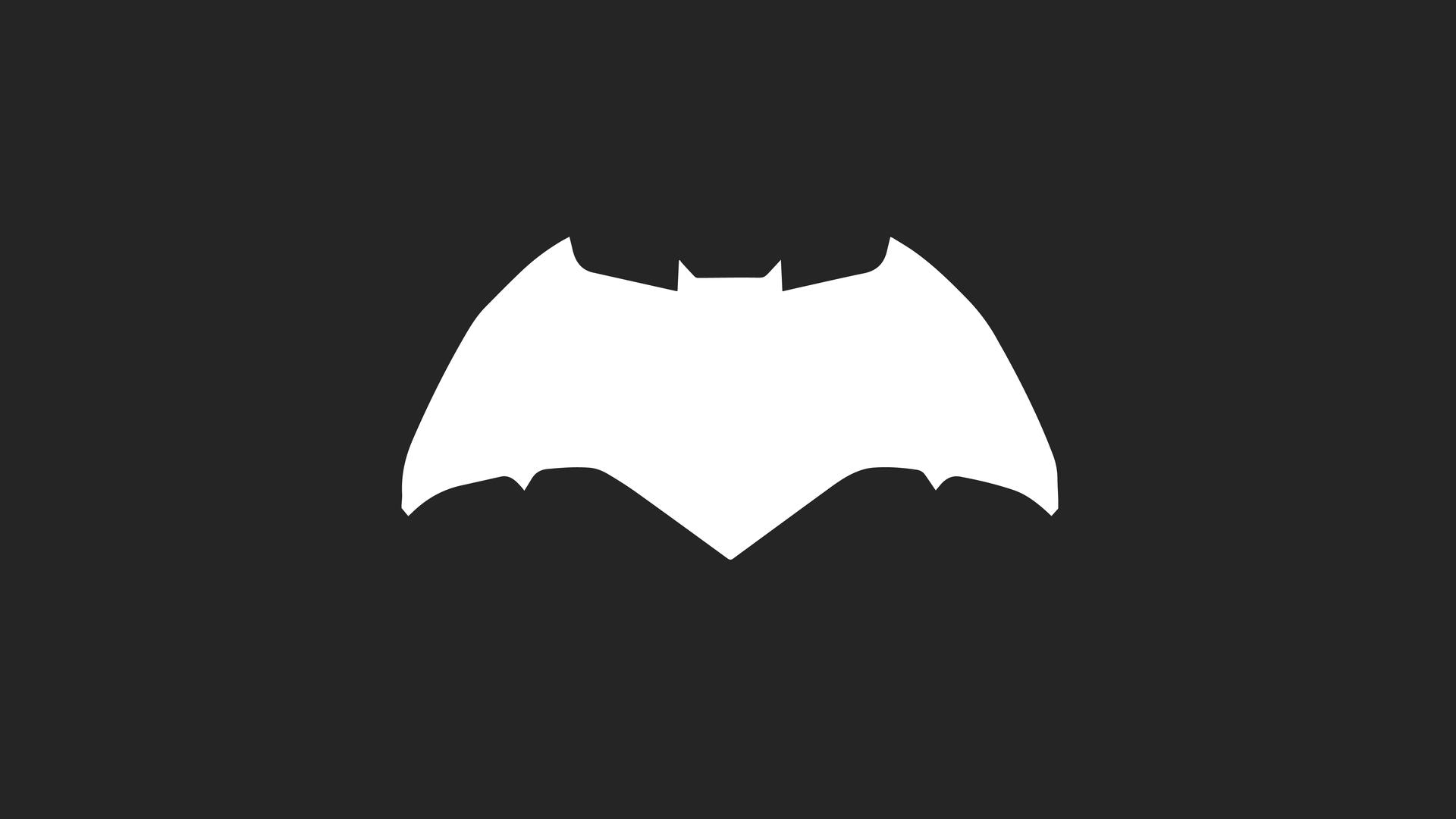 1920x1080 Batman Logo Minimalism Laptop Full HD 1080P HD